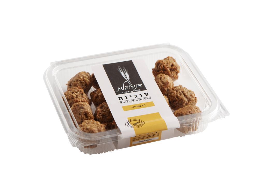 עוגיות שיבולת שועל טחינה מלאה ודבש